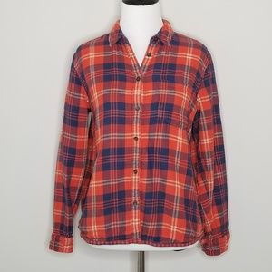 Madewell | Red Ember Plaid Cozy Flannel Shirt | S